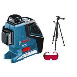 Laser krzyżowy Bosch GLL 3-80 P + statyw foto + okulary
