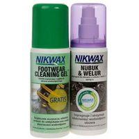 Impregnat do obuwia (nubuk i welur) + żel czyszczący NIKWAX 2*125ml