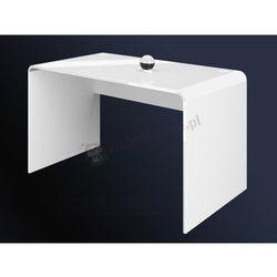 Białe biurko pod komputer Murano 130 White&White
