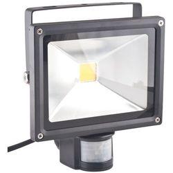 Superled Oprawa lampa naświetlacz halogen Led 20W barwa ciepła z czujnikiem ruchu PIR