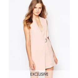 Twin Sister Mini Wrap Dress with Buckle - Pink