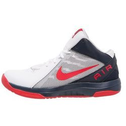 Nike Performance THE AIR OVERPLAY IX Obuwie do koszykówki white/university red/obsidian/pure platinum/cool grey