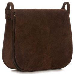 bcee0538352e5 Torebki Listonoszki Skórzane Firmy Genuine Leather Czekoladowa (kolory)