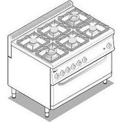 Kuchnia gazowa z piekarnikiem elektrycznym FULL SIZE | 6 palników