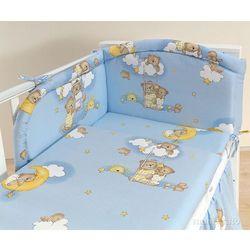 MAMO-TATO pościel 2-el Drabinki z misiami na błękitnym tle do łóżeczka 60x120cm