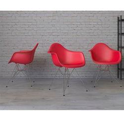 Krzesło P018PP czerwone chrom nogi HF - czerwony
