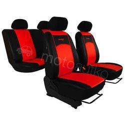 Pokrowce samochodowe uniwersalne Eko-skóra Czerwone Audi 80 B3 1986-1996 - Czerwony