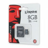 Karta pamięci Kingston microSDHC 8GB cl.4 z adapterem
