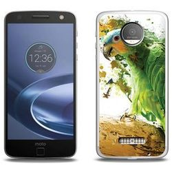 Foto Case - Lenovo Moto Z Force - etui na telefon Foto Case - zielona papuga