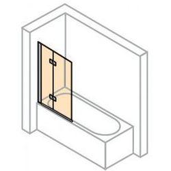Parawan nawannowy Huppe Design Pure - 2-częściowy prawy 100 cm, profil srebrny mat, szkło przeźroczyste 8P2401.087.321