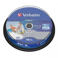 Verbatim BD-R SL, Hard Coat protective layer, 25GB, Pack Spindle, 43804, 6x, 10-pack, do archiwizacji danych