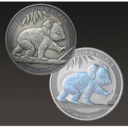 Zestaw monet uszlachetnianych - Australijska Koala 1 uncja srebra