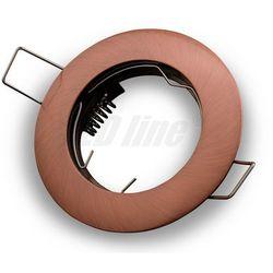 Oprawa halogenowa sufitowa okrągła stała, odlew - antyk