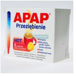 Apap Przeziębienie Hot (ActiFlu Extra C) pr.do p.roztw. (0,65g+0,05g+0,01g)/sasz. 8 sasz.