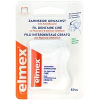 Elmex nić dentystyczna woskowana z aminofluorkiem 50 M