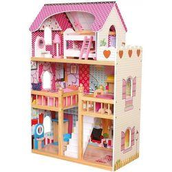 Duży Domek Drewniany dla lalek z meblami