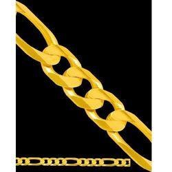 55 cm łańcuszek złoty figaro