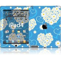 Rovens.pl Nexgen Skins - Zestaw skórek na obudowę z efektem 3D iPad 2/3/4 (Hearts and Daisies 3D)