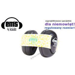 Słuchawki ochronne nauszniki dla dzieci 0+, EM'S - czarno-cytrynowe