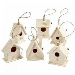Drewniany domek dla ptaków - wzór VI
