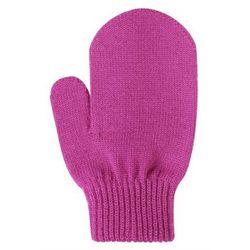 Rękawiczki STIG cienka włóczka wełniania różowe jednopalczaste