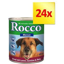 Megapakiet Rocco Menu, 24 x 800 g - Wołowina i jagnięcina z warzywami i ryżem