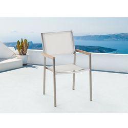 Meble Ogrodowe Białe Krzesło Ogrodowe Balkonowe Tarasowe Grosseto