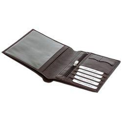 Portfel ochronny blokujący sygnały RFID - dla podróżujących (Brązowy) - Brąz mat