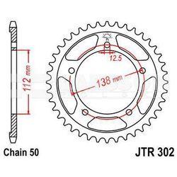 Zębatka tylna stalowa JT 302-42, 42Z, rozmiar 530 2300645 Honda CBR 1100