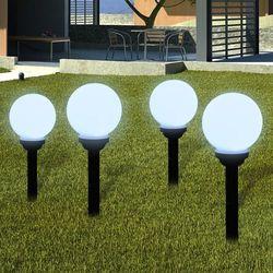 vidaXL Ogrodowe lampy solarne LED 15cm, 4szt z uziemieniem Spike Darmowa wysyłka i zwroty