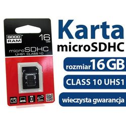 - Karta pamięci GOODRAM micro SDHC class 10 16GB