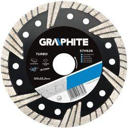 Tarcza do cięcia GRAPHITE 57H625 125 x 1.5 x 22.2 mm diamentowa turbo