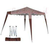 Pawilon 3x3m namiot ekspresowy ogrodowy brązowy