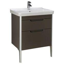 Zestaw łazienkowy Unik 65 cm z 2 szufladami Roca Dama-N A851047153 Szary antracyt połysk