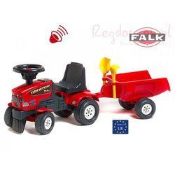 FALK Jeździk Traktor Farm Mustang + przyczepa