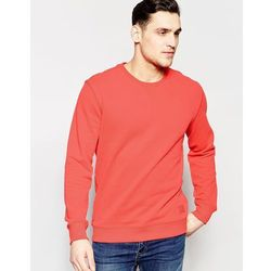 Lee Crew Sweatshirt Loopback Fleece in Red - Red