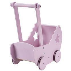 Kids Concept, Drewniany wózek z gwiazdką, różowy Darmowa dostawa do sklepów SMYK