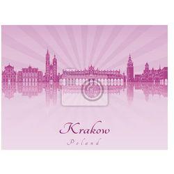 Obraz Krakow skyline in purple radiant orchid