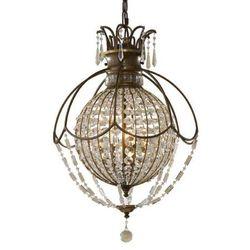 LAMPA wisząca FE/BELLINI3 Elstead FEISS świecznikowy ŻYRANDOL kryształowa OPRAWA crystal antyczny brąz