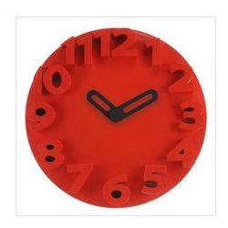 Zegar ścienny, czerwony