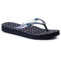 158dc01828477 Japonki TOMMY HILFIGER - Colorful Tommy Flat Beach Sandal FW0FW04240  Midnight 403