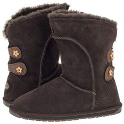 Buty EMU Australia Alba Button Kids Chocolate K11124 (EM173-b)