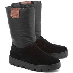 NAPAPIJRI Jenny - Czarne Zamszowe Śniegowce Damskie - 11743796 N00
