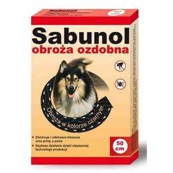 Sabunol obroża dla psa przeciw pchłom i kleszczom ozdobna czarna 50cm
