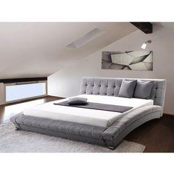 Nowoczesne łóżko tapicerowane ze stelażem 180x200 cm - LILLE szare