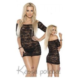 Roxana Mini Dress & String Model: 6563 Black L Sukienka i stringi czarne L