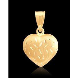 piękny wisiorek złote serce