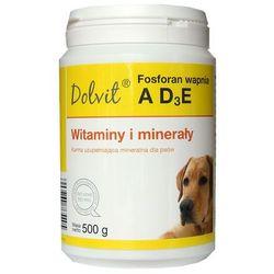 DOLFOS Fosforan wapnia z AD3E - preparat witaminowo - mineralny dla psów (proszek) 500g