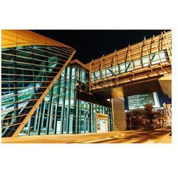 Fototapeta Metro subway station at night in Dubai United Arab Emirates