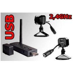 Minikamera bezprzewodowa 2,4 GHz + odbiornik USB, KB335M